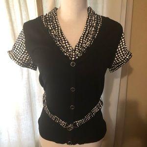 Black/White Dress Blouse